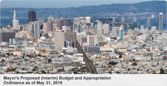 Mayor's Proposed (Interim) Budget and Appropriation Ordinance as of May 31, 2019