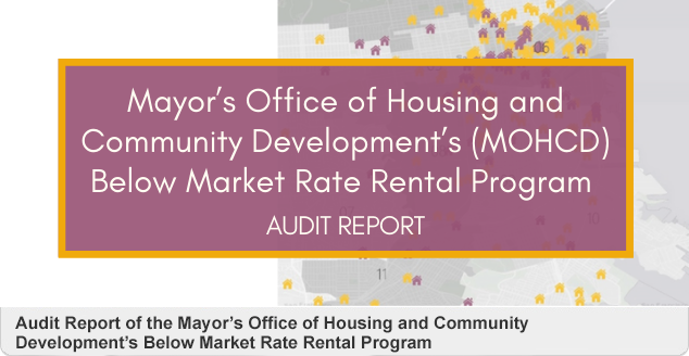 Audit Report of the Mayor's Office of Housing and Community Development's Below Market Rate Rental Program